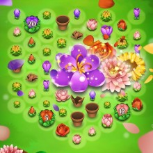 Цветы три в ряд