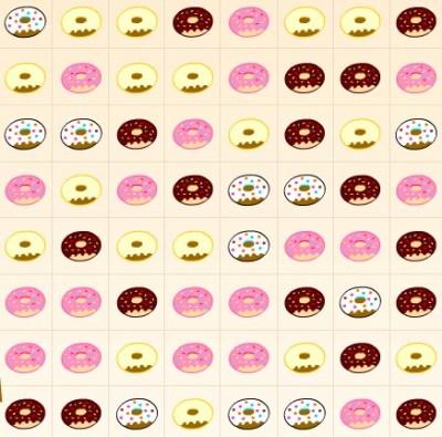Пончики три в ряд