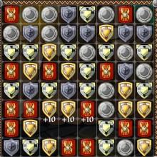 Рыцари три в ряд